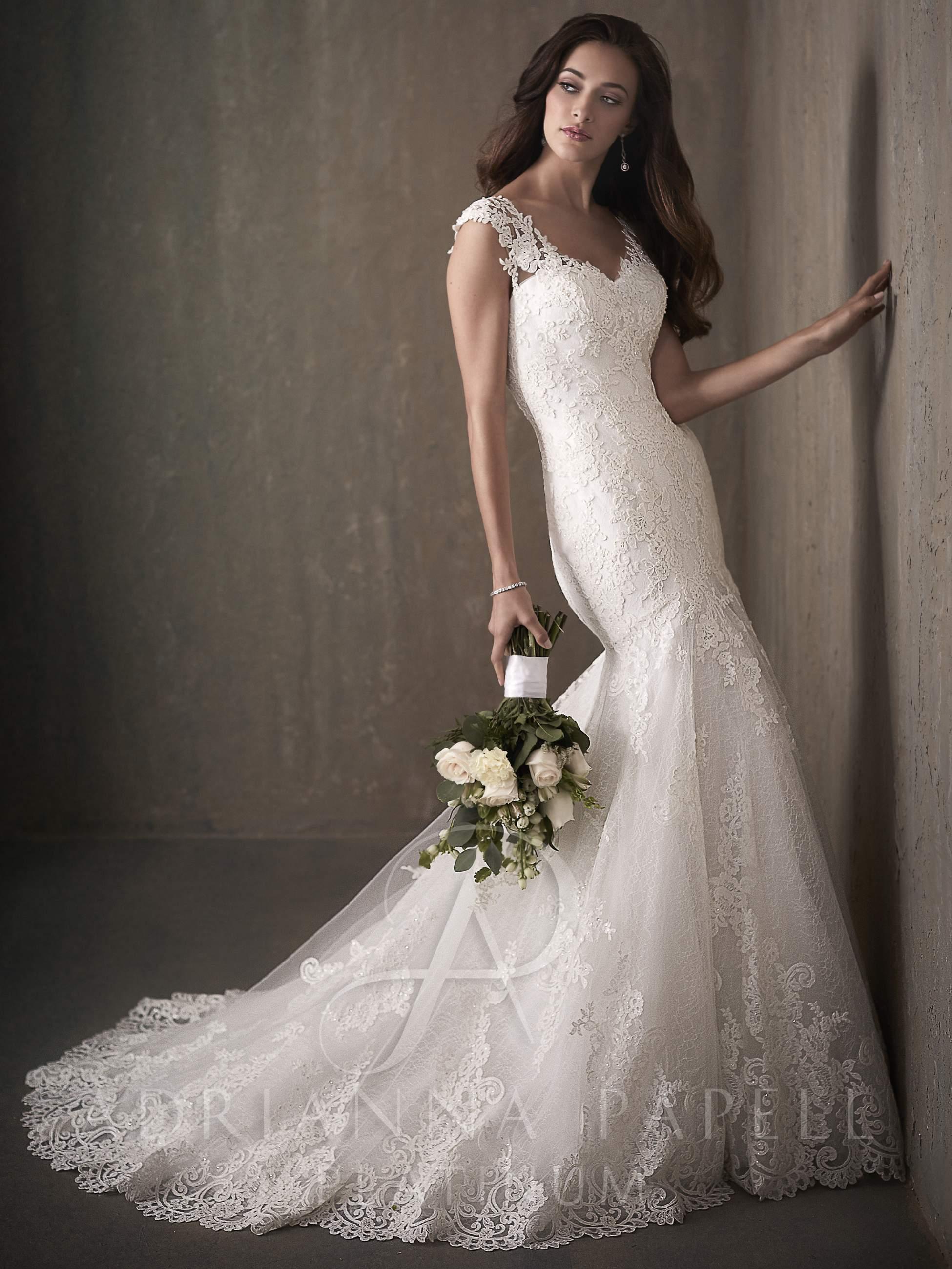 8df19341fa Adrianna Papell Platinum 31018 wedding Dress- Moda Mundo