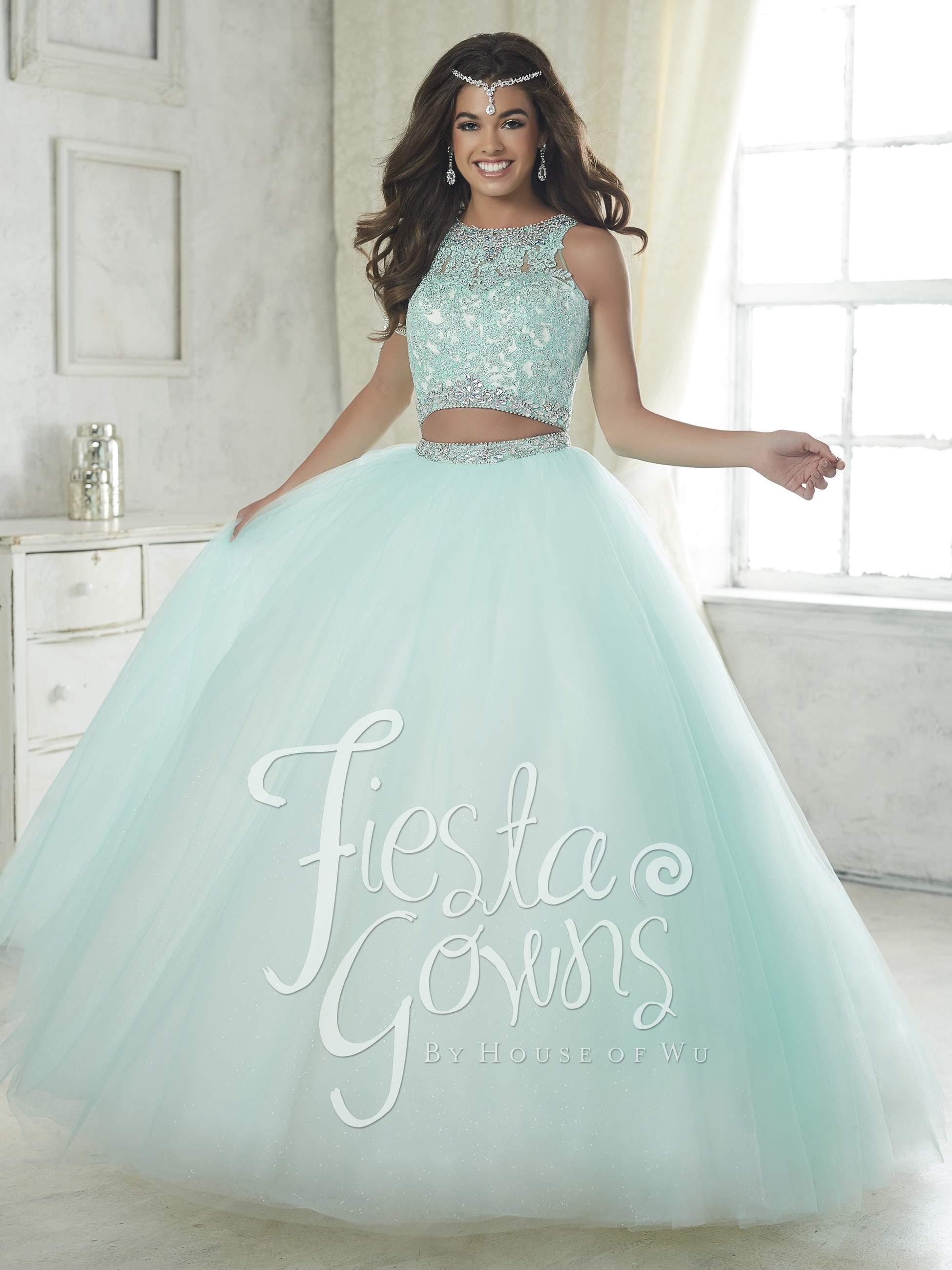 5bd29c2aebe Vestido de Debutante Longo Fiesta Gowns 56317