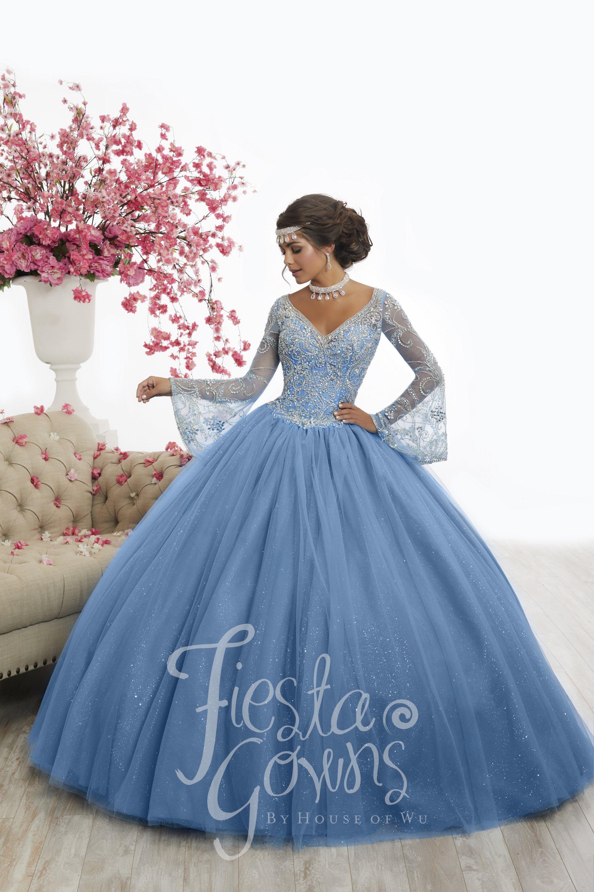 d6d4b9d2f47 Vestido de Debutante Longo Fiesta Gowns 56346 - Moda Mundo